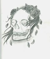 Skull and Roses by 12KathyLees12