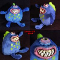 Flurg The Monster plush Ooak by Undead-Art