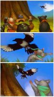 Okun and the Magpie by HamsterEagleHunter