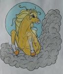 Horse + Clouds by Teegsxx