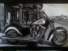Moto Indian drawing by alainmi
