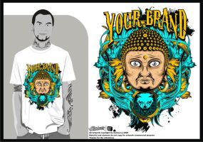 design for sale budha color by inumocca