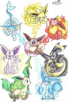 The eeveelutions by mmishee