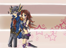 Yusei and Yumichika by DarkAngeL383