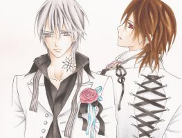 Kaname and Zero by Blood-Red-Angel1