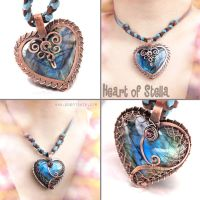 Heart of Stella Labradorite Pendant by popnicute