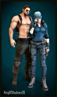 Chris and Jill (2) by kingofshadows26