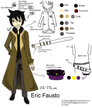 OC Reference Sheet: Eric Fausto by Aestoria