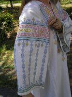 White Gown w Blue Birds 13th C by Isiscat777