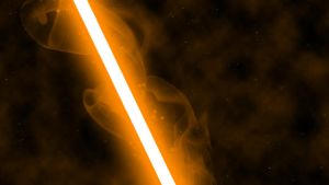 Orange Lightsaber by nerfAvari