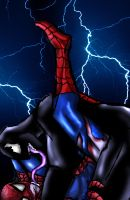 Oh so slashy VenomXspiderman by Idigoddpairings