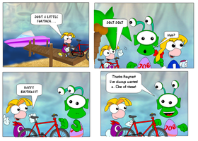 Rayman in Party at Joes - Chapter 1 Page 3 by Cuddlesnowy