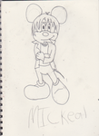 Micheal as Mickey mouse by ZeCrazyAngel