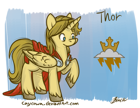 Avengers/MLP Crossover - Thor by caycowa