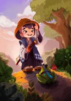 Little Traveller by limzhilin