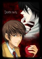 Death Note: Light vs L by linlilian