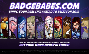 BadgeBabes - Advertisement by WhammoDesigns