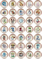 Legendary Pokemon Badge Set