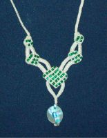Necklace 'Emerald' by Peter-The-Knotter