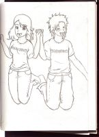 me and tobuscus by WarOfArts