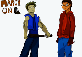 Jerry and Kyle colored by fighterxaos
