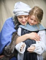 Medieval mother and daughter by Nivelis