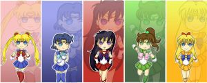 Inner Senshi Bookmarks by artisticshape