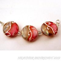 Sunset on The Beach Lampwork by booga119