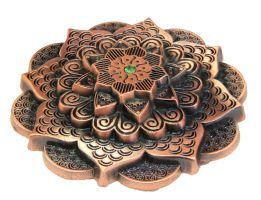 Antique Copper Mehndi Mandala Geocoin by cwaddell