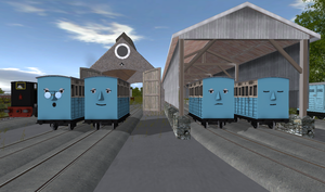 The Old Coaches - Agnes, Ruth, Lucy and Jemima by Sergeant-Sunflower