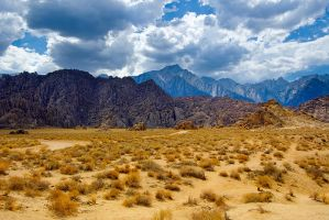 Alabama Hills and the Sierras by shubat