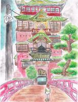 Yubaba's Bathhouse~Spirited Away by samui153