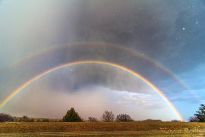 Double Rainbow - Guthrie, OK by Bvilleweatherman