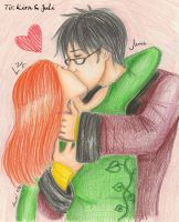 Lily+James: Kiss by Bear-Know-Who