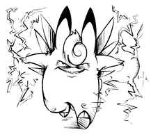 Clefable used Thunder by Miniatureowl