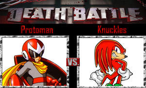 Protoman vs Knuckles by SonicPal