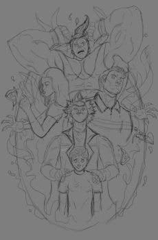 Rick and Morty WIP by jterronez