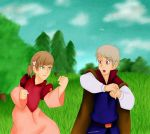 Prince Prussia and Swan Princess Hungary by LoveToTheCucumber