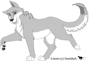 Free MS Paint Friendly Wolf/Canine Lineart by Jennidash