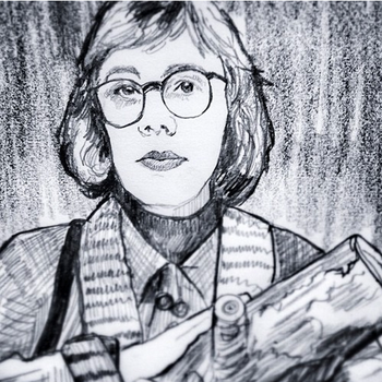 The Log Lady of Twin Peaks by filmshirley
