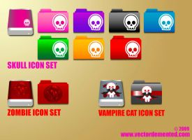 Vector Demented Icon Set 1 by meesh23