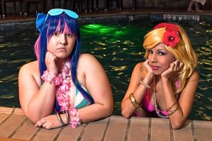 Panty and Stocking: Poolside by MomoKurumi