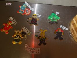 Avengers Cookies by TheUndeadEagle