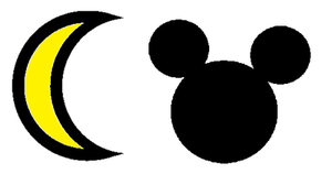 Sailor Moon and Mickey Mouse symbol by SuperMarcosLucky96