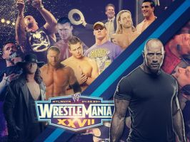 Wrestlemania 27 Poster by EmotionalRainbow