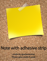 Note with adhesive strip by spaceemotion