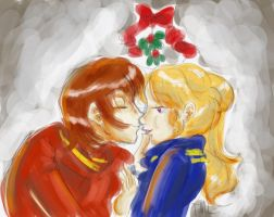 Space Opera Mistletoe - Colour by Tell-Me-Lies