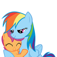 Rainbow Dash and Scootaloo - It's a deal! by Saphyl