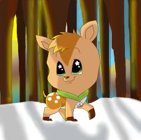 Little Deer in The Big Forest by krazykatdrawer