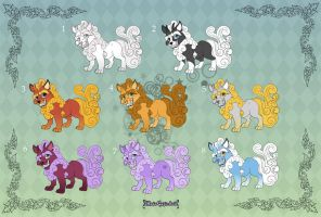 [Closed] Adoptables: Cute Foo Dogs by MySweetQueen